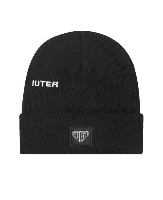 EMBROIDERED FOLD BEANIE