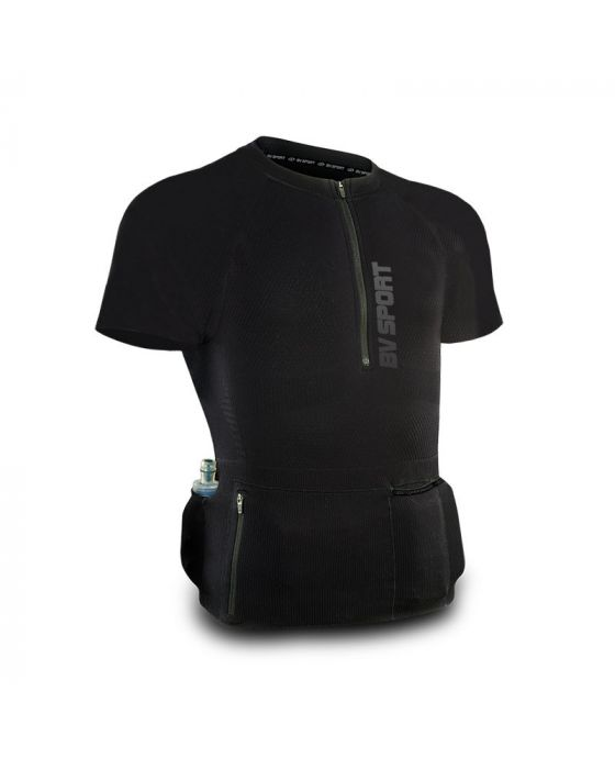T-SHIRT TRAIL-RUNNING RTECH PRO NERO