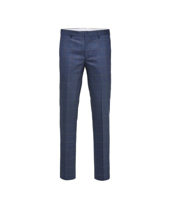 WOOL BLEND STRETCH TROUSERS